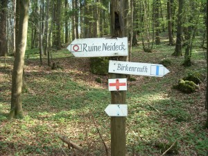 Wander-Wegweiser in der Umgebung von Ebermannstadt