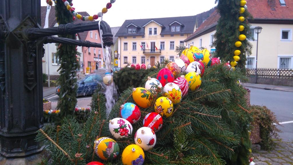 Bemalte Ostereier in Muggendorf